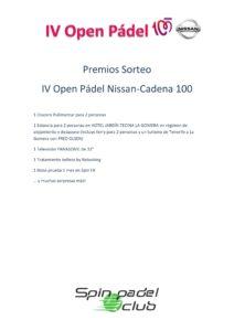 4010 PREMIOS SORTEO iv nissan cadena 100